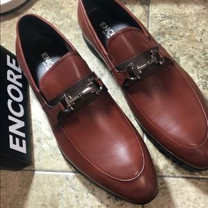 NWB Encore By Fiesso BROWN Leather Shoes FI3106